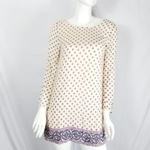 Forever 21 Tunic Dress Long Sleeve Printed Sz S